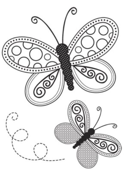 Picture of Kaiser Mini Clear Stamp Butterflies