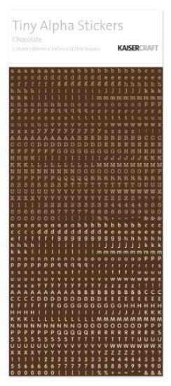 Picture of Tiny Alphabet Stickers Chocolate