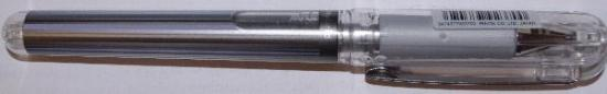 Picture of Pental Hybrid Metallic Pigment Ink Gel Pen Silver 1.0mm