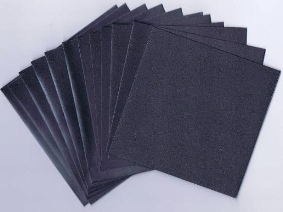 Picture of 6 Sets of Pearlized Square Cards & Envelopes Gunmetal