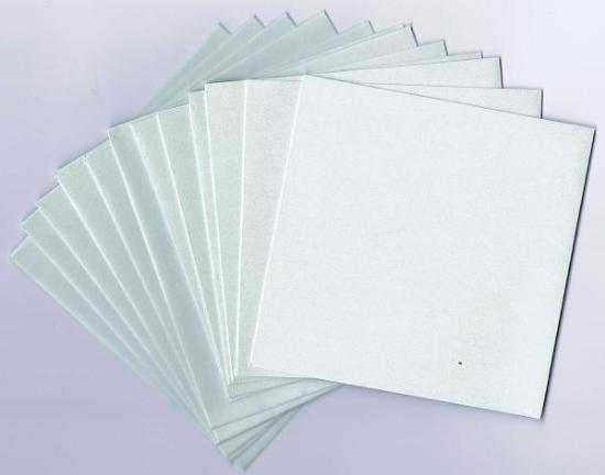 Picture of 6 Sets of Pearlized Square Cards & Envelopes Mint