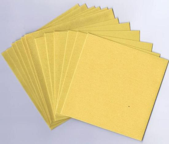 Picture of 6 Sets of Pearlized Square Cards & Envelopes Yellow