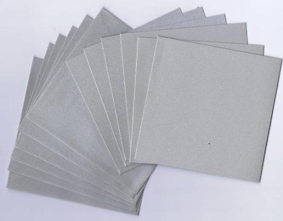 Picture of 6 Sets of  Pearlized Square Cards & Envelopes Silver