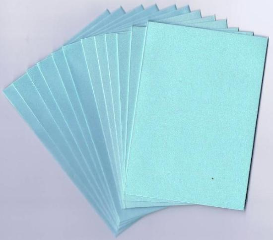 Picture of 6 Sets of Pearlized C6 Cards & Envelopes Soft Blue