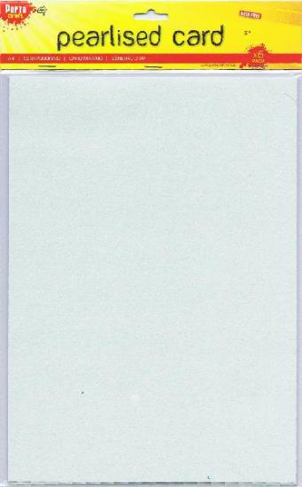 Picture of A4 Pearlised Cardstock Mint 6Pk