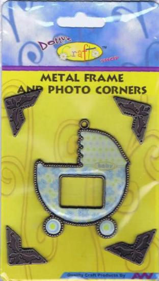 Picture of Metal Frame with Corners Baby Boy
