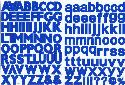 Picture of 126Pk Uppercase & Lowercase Alphabet Stickers Blue