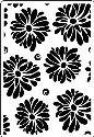 Picture of Portacraft Embossing Folder Large Flowers 15cm x 10cm