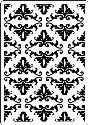 Picture of Portacraft Embossing Folder Damask 15cm x 10cm
