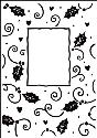 Picture of Portacraft Embossing Folder Holly Window 15cm x 10cm
