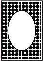 Picture of Portacraft Embossing Folder Dot Oval Frame 15cm x 10cm