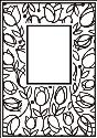 Picture of Portacraft Embossing Folder Tulip Window 15cm x 10cm