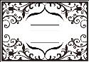 Picture of Portacraft Embossing Folder Frame with Lines 15cm x 10cm