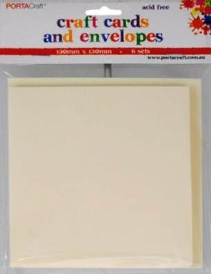 Picture of 6 Sets of Square Cards & Envelopes Cream
