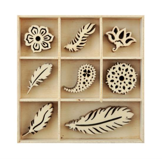 Picture of Kaiser Wooden Flourishes - Feather