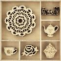 Picture of Kaiser Wooden Flourishes - Tea Party
