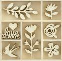 Picture of Full Bloom Wooden Flourishes - Blooming