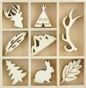 Picture of Hide & Seek Wooden Flourishes - Woodlands