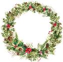Picture of Peace & Joy Die Cut - Leafy Wreath