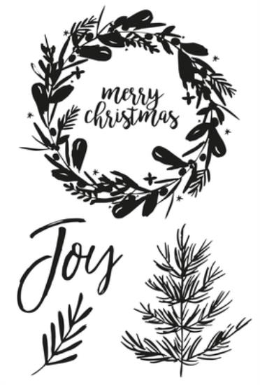 Picture of Peace & Joy Clear Stamp