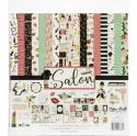 "Picture of Echo Park Salon - 12"" 12 Double Sided Papers & Sticker Sheet"