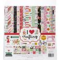 "Picture of Echo Park I Heart Crafting - 12"" 12 Double Sided Papers & Sticker Sheet"