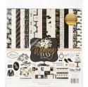 "Picture of Echo Park Wedding Day - 12"" 12 Double Sided Papers (6 with Foiled Pattern) & Sticker Sheet"