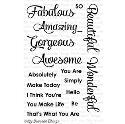 Picture of MFT Simply Fabulous Sayings Stamp