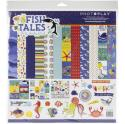 """Picture of PhotoPlay Fish Tales - 12"""" 12 Double Sided Papers & Sticker Sheet"""