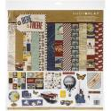 """Picture of PhotoPlay Here & There - 12"""" 12 Double Sided Papers & Sticker Sheet"""