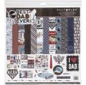 """Picture of PhotoPlay Best Dad Ever - 12"""" 12 Double Sided Papers & Sticker Sheet"""