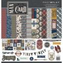 """Picture of PhotoPlay Man Card - 12"""" 12 Double Sided Papers & Sticker Sheet"""