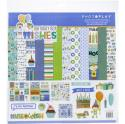 """Picture of PhotoPlay Birthday Boy Wishes - 12"""" 12 Double Sided Papers & Sticker Sheet"""