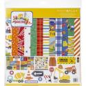 """Picture of PhotoPlay Little Builder - 12"""" 12 Double Sided Papers & Sticker Sheet"""