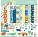 """Picture of PhotoPlay Boys Rule - 12"""" 12 Double Sided Papers & Sticker Sheet"""