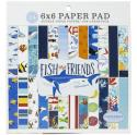 """Picture of Carta Bella Fish & Friends 6"""" 24 Double Sided Papers"""
