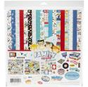 """Picture of Carta Bella Family Night - 12"""" 12 Double Sided Papers & Sticker Sheet"""