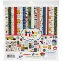 """Picture of Carta Bella School Days - 12"""" 12 Double Sided Papers & Sticker Sheet"""