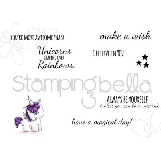 Picture of Stamping Bella - Unicorn Sentiment Stamps