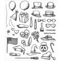 Picture of Tim Holtz - Stampers Anonymous - Crazy Things Cling Stamp